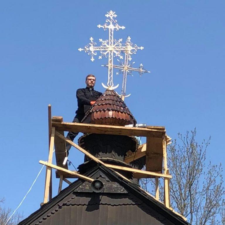 На куполі Благовіщенської церкви у Колоимиї встановили хрест