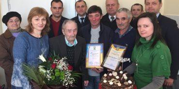 Мешканець Прикарпаття відзначив 100-річний ювілей. ФОТО
