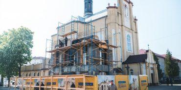 """Будівництво дзвіниці біля церкви  св. Йосафата перейшло """"екватор"""""""