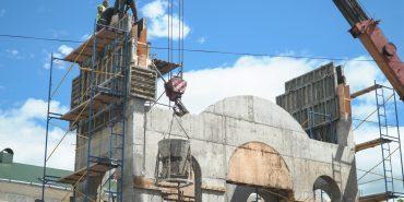 ВІДЕО. Етап бетонних робіт на дзвіниці біля церкви св. Йосафата завершено